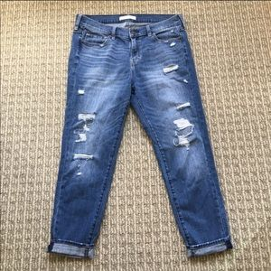Abercrombie & Fitch Distressed Boyfriend Jeans -8